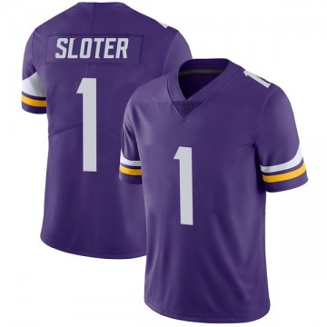 Youth Nike Minnesota Vikings Kyle Sloter Purple Team Color Vapor Untouchable Jersey - Limited