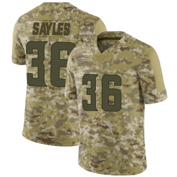 Youth Nike Minnesota Vikings Marcus Sayles Camo 2018 Salute to Service Jersey - Limited