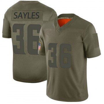 Youth Nike Minnesota Vikings Marcus Sayles Camo 2019 Salute to Service Jersey - Limited
