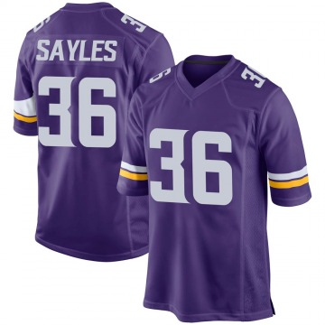 Youth Nike Minnesota Vikings Marcus Sayles Purple Team Color Jersey - Game