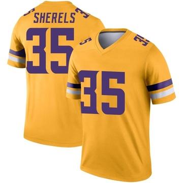 Youth Nike Minnesota Vikings Marcus Sherels Gold Inverted Jersey - Legend