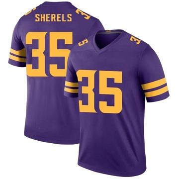 Youth Nike Minnesota Vikings Marcus Sherels Purple Color Rush Jersey - Legend