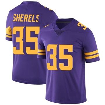 Youth Nike Minnesota Vikings Marcus Sherels Purple Color Rush Jersey - Limited