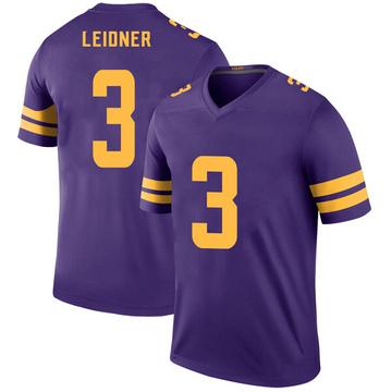 Youth Nike Minnesota Vikings Mitch Leidner Purple Color Rush Jersey - Legend