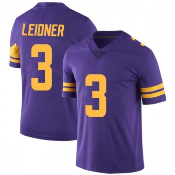 Youth Nike Minnesota Vikings Mitch Leidner Purple Color Rush Jersey - Limited