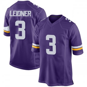 Youth Nike Minnesota Vikings Mitch Leidner Purple Team Color Jersey - Game
