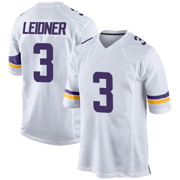 Youth Nike Minnesota Vikings Mitch Leidner White Jersey - Game
