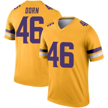 Youth Nike Minnesota Vikings Myles Dorn Gold Inverted Jersey - Legend