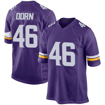 Youth Nike Minnesota Vikings Myles Dorn Purple Team Color Jersey - Game