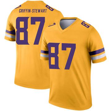 Youth Nike Minnesota Vikings Nakia Griffin-Stewart Gold Inverted Jersey - Legend