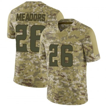 Youth Nike Minnesota Vikings Nate Meadors Camo 2018 Salute to Service Jersey - Limited