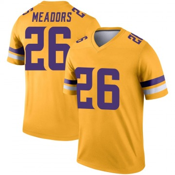 Youth Nike Minnesota Vikings Nate Meadors Gold Inverted Jersey - Legend