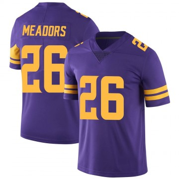 Youth Nike Minnesota Vikings Nate Meadors Purple Color Rush Jersey - Limited