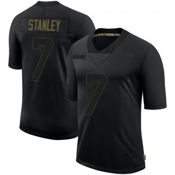 Youth Nike Minnesota Vikings Nate Stanley Black 2020 Salute To Service Jersey - Limited