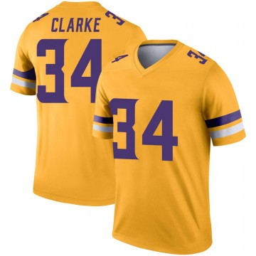 Youth Nike Minnesota Vikings Nevelle Clarke Gold Inverted Jersey - Legend