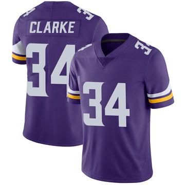 Youth Nike Minnesota Vikings Nevelle Clarke Purple 100th Vapor Jersey - Limited