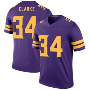 Youth Nike Minnesota Vikings Nevelle Clarke Purple Color Rush Jersey - Legend