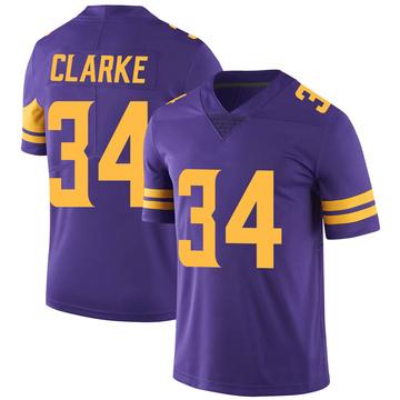 Youth Nike Minnesota Vikings Nevelle Clarke Purple Color Rush Jersey - Limited