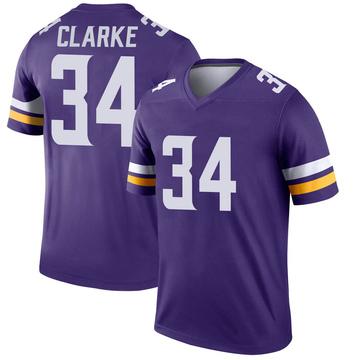Youth Nike Minnesota Vikings Nevelle Clarke Purple Jersey - Legend