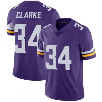 Youth Nike Minnesota Vikings Nevelle Clarke Purple Team Color Vapor Untouchable Jersey - Limited