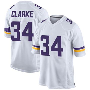 Youth Nike Minnesota Vikings Nevelle Clarke White Jersey - Game