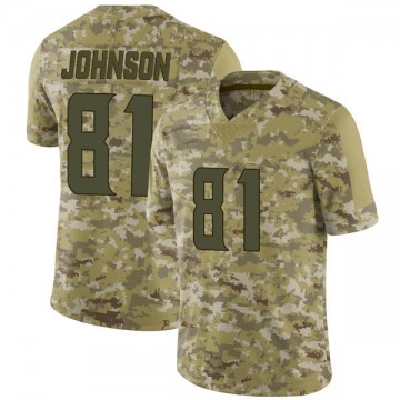 Youth Nike Minnesota Vikings Olabisi Johnson Camo 2018 Salute to Service Jersey - Limited