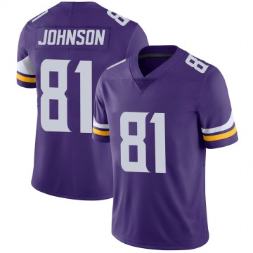 Youth Nike Minnesota Vikings Olabisi Johnson Purple 100th Vapor Jersey - Limited