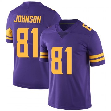 Youth Nike Minnesota Vikings Olabisi Johnson Purple Color Rush Jersey - Limited