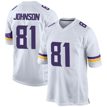Youth Nike Minnesota Vikings Olabisi Johnson White Jersey - Game