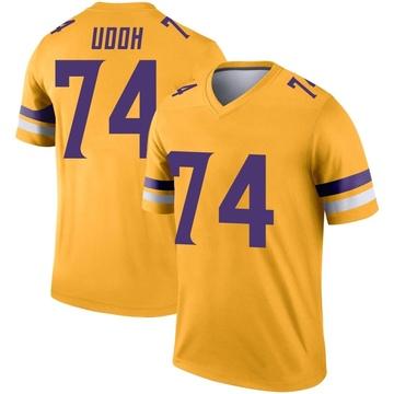 Youth Nike Minnesota Vikings Olisaemeka Udoh Gold Inverted Jersey - Legend