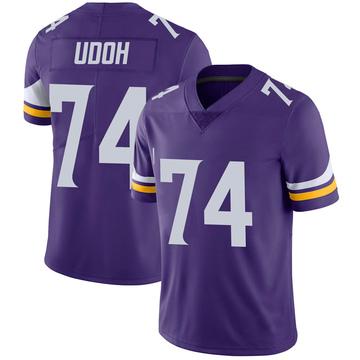 Youth Nike Minnesota Vikings Olisaemeka Udoh Purple 100th Vapor Jersey - Limited