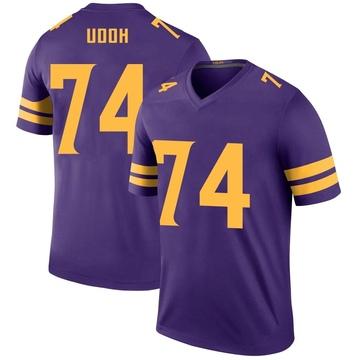 Youth Nike Minnesota Vikings Olisaemeka Udoh Purple Color Rush Jersey - Legend