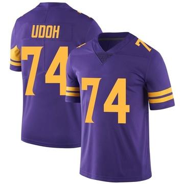 Youth Nike Minnesota Vikings Olisaemeka Udoh Purple Color Rush Jersey - Limited