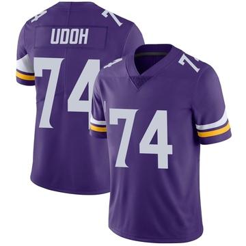 Youth Nike Minnesota Vikings Olisaemeka Udoh Purple Team Color Vapor Untouchable Jersey - Limited