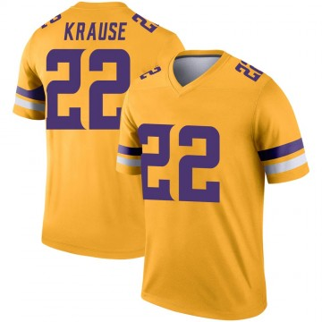 Youth Nike Minnesota Vikings Paul Krause Gold Inverted Jersey - Legend