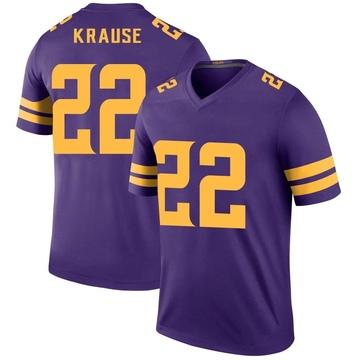 Youth Nike Minnesota Vikings Paul Krause Purple Color Rush Jersey - Legend