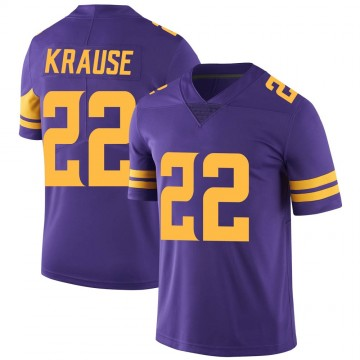Youth Nike Minnesota Vikings Paul Krause Purple Color Rush Jersey - Limited