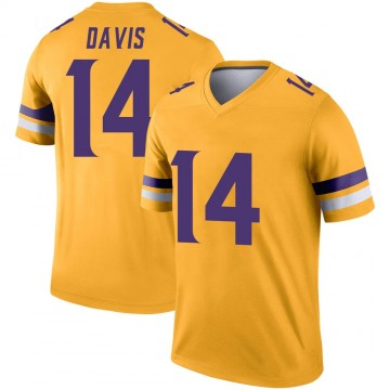 Youth Nike Minnesota Vikings Quartney Davis Gold Inverted Jersey - Legend