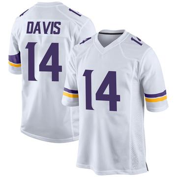 Youth Nike Minnesota Vikings Quartney Davis White Jersey - Game