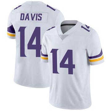Youth Nike Minnesota Vikings Quartney Davis White Vapor Untouchable Jersey - Limited