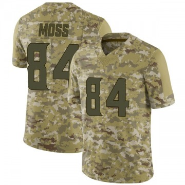 Youth Nike Minnesota Vikings Randy Moss Camo 2018 Salute to Service Jersey - Limited