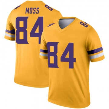 Youth Nike Minnesota Vikings Randy Moss Gold Inverted Jersey - Legend