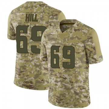 Youth Nike Minnesota Vikings Rashod Hill Camo 2018 Salute to Service Jersey - Limited