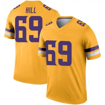 Youth Nike Minnesota Vikings Rashod Hill Gold Inverted Jersey - Legend