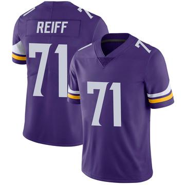 Youth Nike Minnesota Vikings Riley Reiff Purple 100th Vapor Jersey - Limited