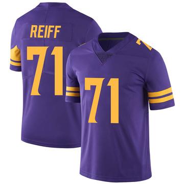 Youth Nike Minnesota Vikings Riley Reiff Purple Color Rush Jersey - Limited