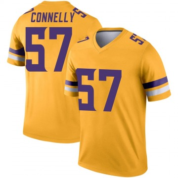 Youth Nike Minnesota Vikings Ryan Connelly Gold Inverted Jersey - Legend