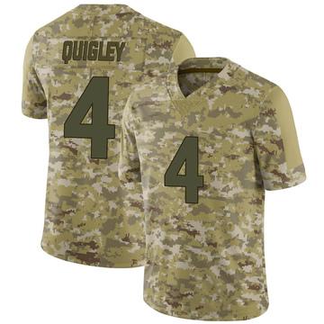 Youth Nike Minnesota Vikings Ryan Quigley Camo 2018 Salute to Service Jersey - Limited