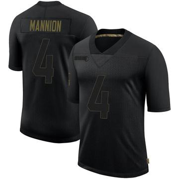 Youth Nike Minnesota Vikings Sean Mannion Black 2020 Salute To Service Jersey - Limited