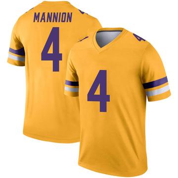 Youth Nike Minnesota Vikings Sean Mannion Gold Inverted Jersey - Legend